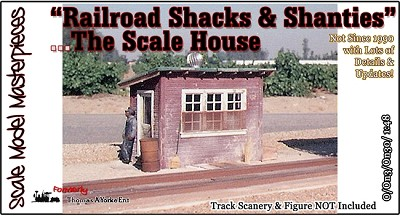 """Railroad Shacks & Shanties"" The Scale House Kit Scale Model Masterpieces/Thomas Yorke O/ON3/ON30 *NEW*"