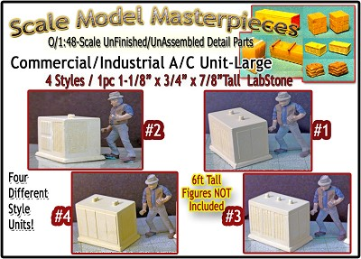 Commercial/Rooftop A/C Unit-Medium (1pc) Scale Model Masterpieces O/On3/On30/1;48