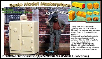 1900s Early Ice Box/Refrigerator (1kit) Scale Model Masterpieces/Yorke O/On3/On30/1:48