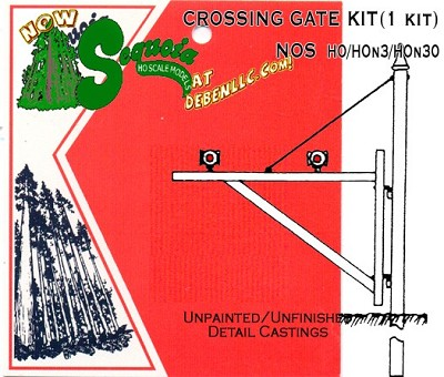 CROSSING GATE KIT Kit -HO/HOn3 Sequoia Models
