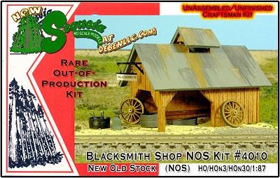 Blacksmith Shop.NOS KIT-SEQUOIA MODELS-FSM-HOn2/HOn30