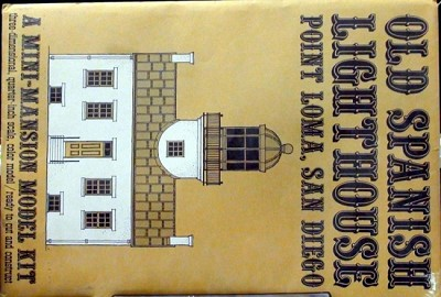 Old Spanish Lighthouse Point Loma San Diego Mini-Mansion Model Kit O/On3/On30