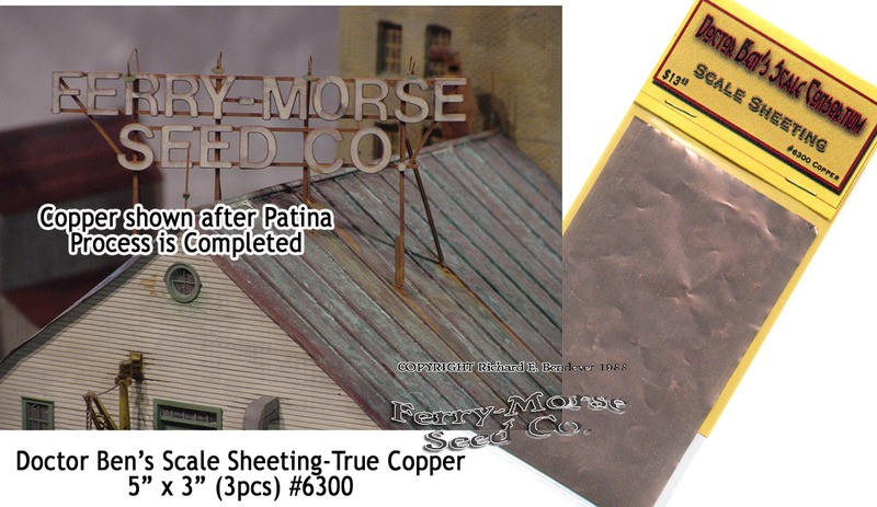 TRUE COPPER SHEETING MATERIAL--Doctor Ben's