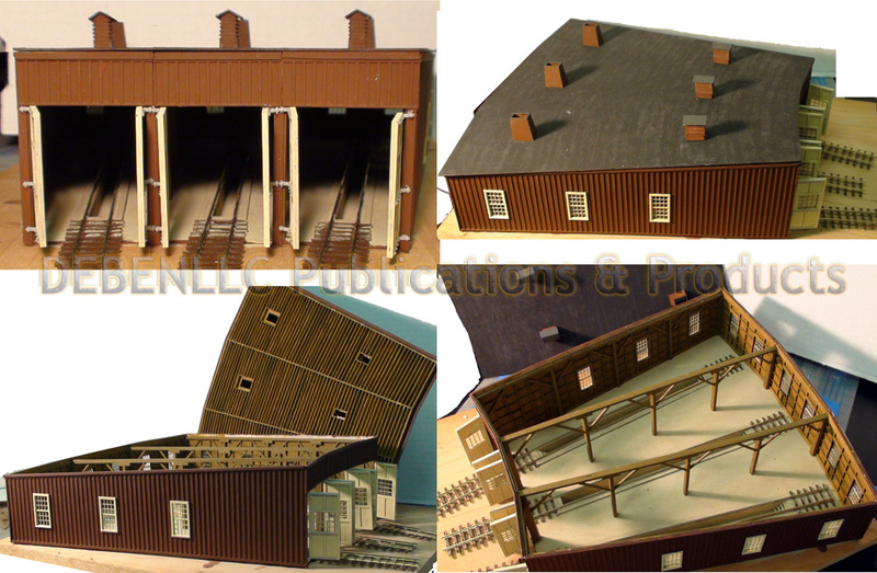 D&RG SARGENTS 3-STALL ROUNDHOUSE FOREGROUND *BUILT-UP* DIORAMA-HON30/HO/HOn3