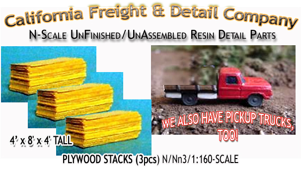 Plywood Sheets-Stacked (3stacks) N/Nn3/1:160-Scale California Freight & Details Co