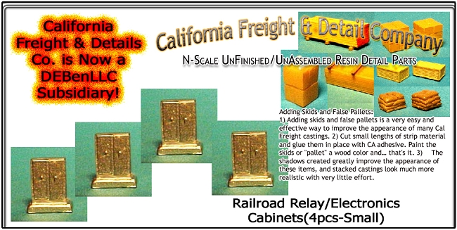 Railroad Relay/Electronics Cabinets-Small (4pcs) California Freight & Details Co. N/Nn3/1;160