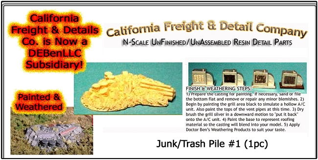 Junk/Trash Pile #1 (1pc) N/Nn3/1:160-Scale California Freight & Details Co.