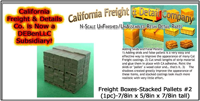 Freight Boxes-Stacked Pallets #2 (1pc) N/Nn3/1:160 California Freight & Details Co