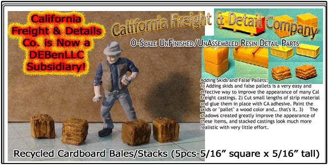 Recycled Cardboard Bales/Stacks (5pcs) Scale Model Masterpieces/YORKE 1;48/On3