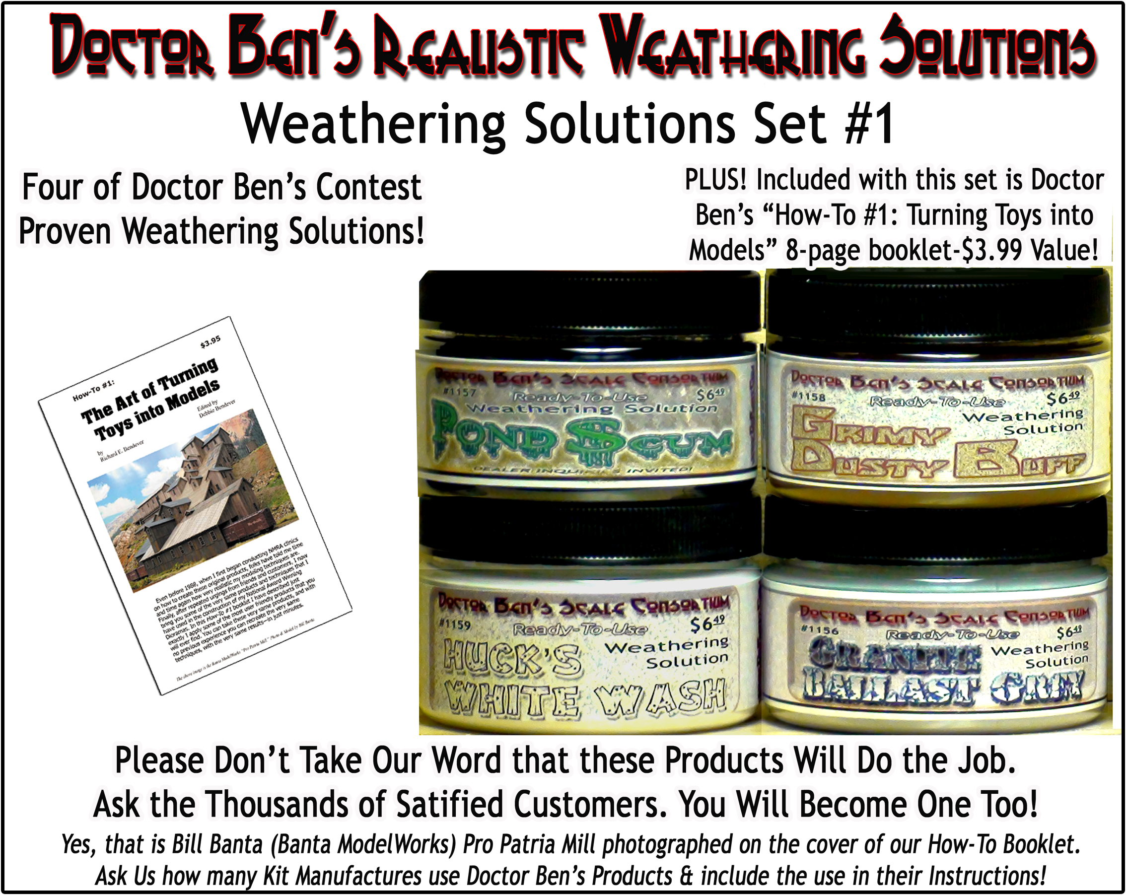 DBZ1180 - Doctor Ben's Weathering Solution Set