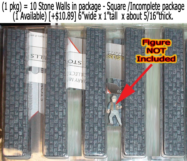Stone Walls-Square Pegasus Hobbies NOS O/1:48