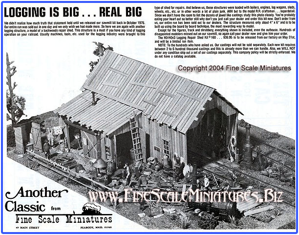 Fine Scale Miniatures #160  Logging Repair Shed