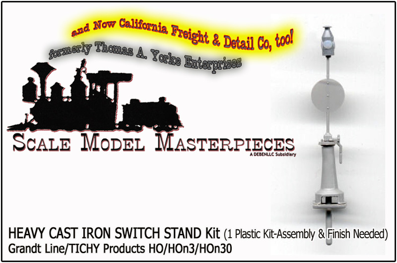 Heavy Cast Iron Switch Stand Kit (1 Kit-UnAssembled)-Grandt Line 1;87/HO/HOn3