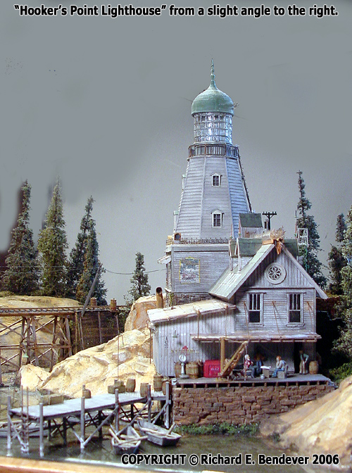 Hooker's Point Lighthouse Contest Diorama-- HO Scale