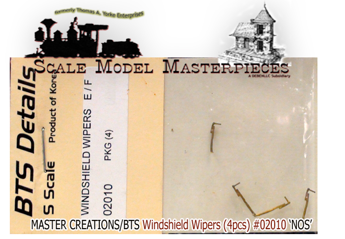 WINDSHIELD WIPERS(4pcs) BTS/Master Creations S/Sn3/Sn2 1:64