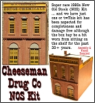 Model Masterpieces #110 Cheeseman Drug Co NOS Kit - HO Scale