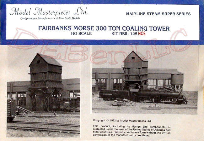 Fairbanks Morse 300 Ton Coaling Tower NOS Kit Model Masterpiece HO/HOn3 *RARE*