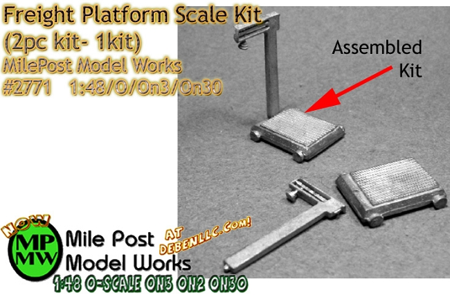 Freight Platform Scale Kit (1kit) - O/On3/On30 1:48-Scale MilePost Model Works
