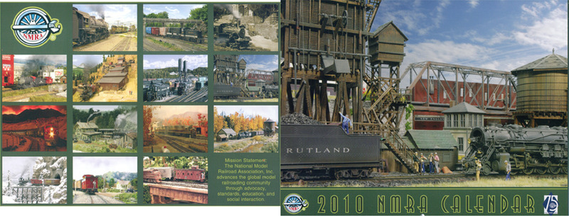 National Model Railroad Association 2010 Annual Membership Calendar HO N HOn3 On30 Sn3
