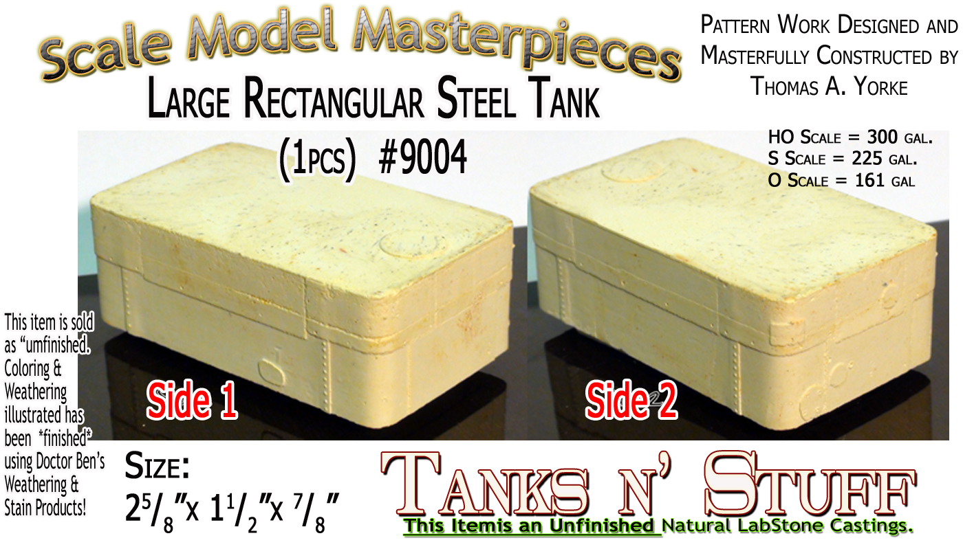 Large Rectangular Steel Tank (1pc) Scale Model Masterpieces/Yorke Multi Scale