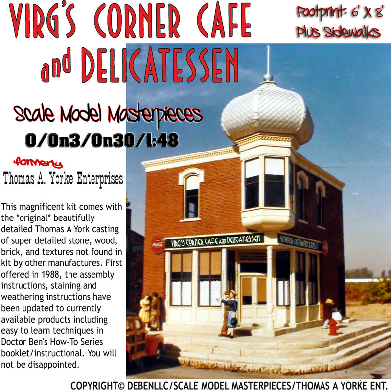 Virg's Corner Cafe & Delicatessen Kit-Scale Model Masterpieces 1:48/O/On3/On30