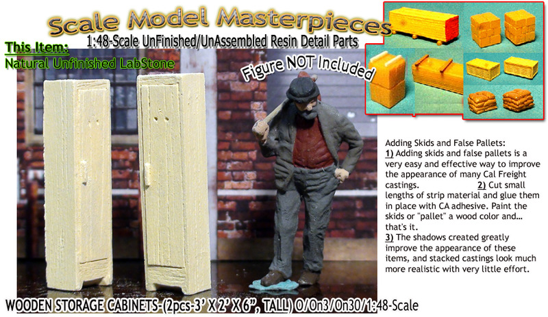 Wood Storage Cabinets/Lockers (2pcs) YORKE/Scale Model Masterpieces O/1:48
