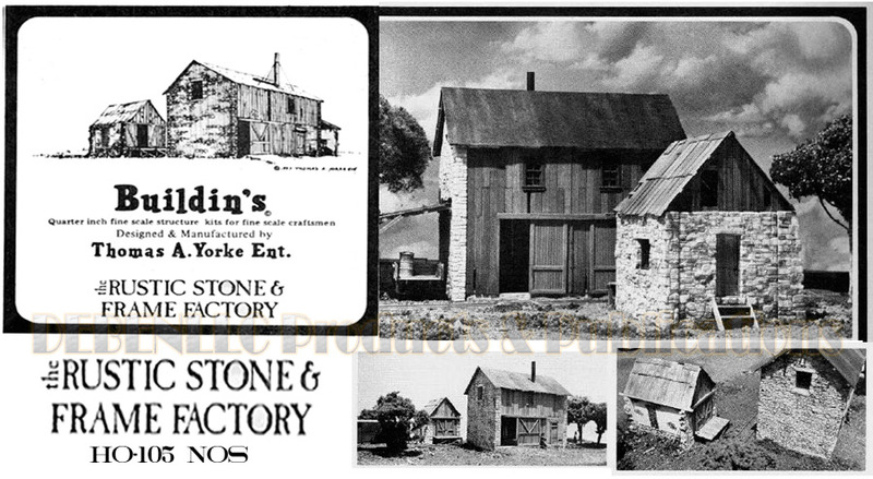 the Rustic Stone & Frame Factory-Out Bldg Casting Set  Scale Model Masterpieces/Yorke HO