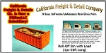Roll-Off Bin w/Load (1pc-20') N/Nn3/1:160-Scale California Freight & Details Co