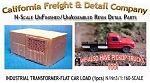 Industrial Transformer Flat Car Load (1pc) N/Nn3/1:160 California Freight & Details Co.