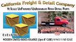 WOODEN CRATES/BOXES-XXLARGE (3pcs) N/Nn3/1:160-Scale CAL FREIGHT & DETAIL