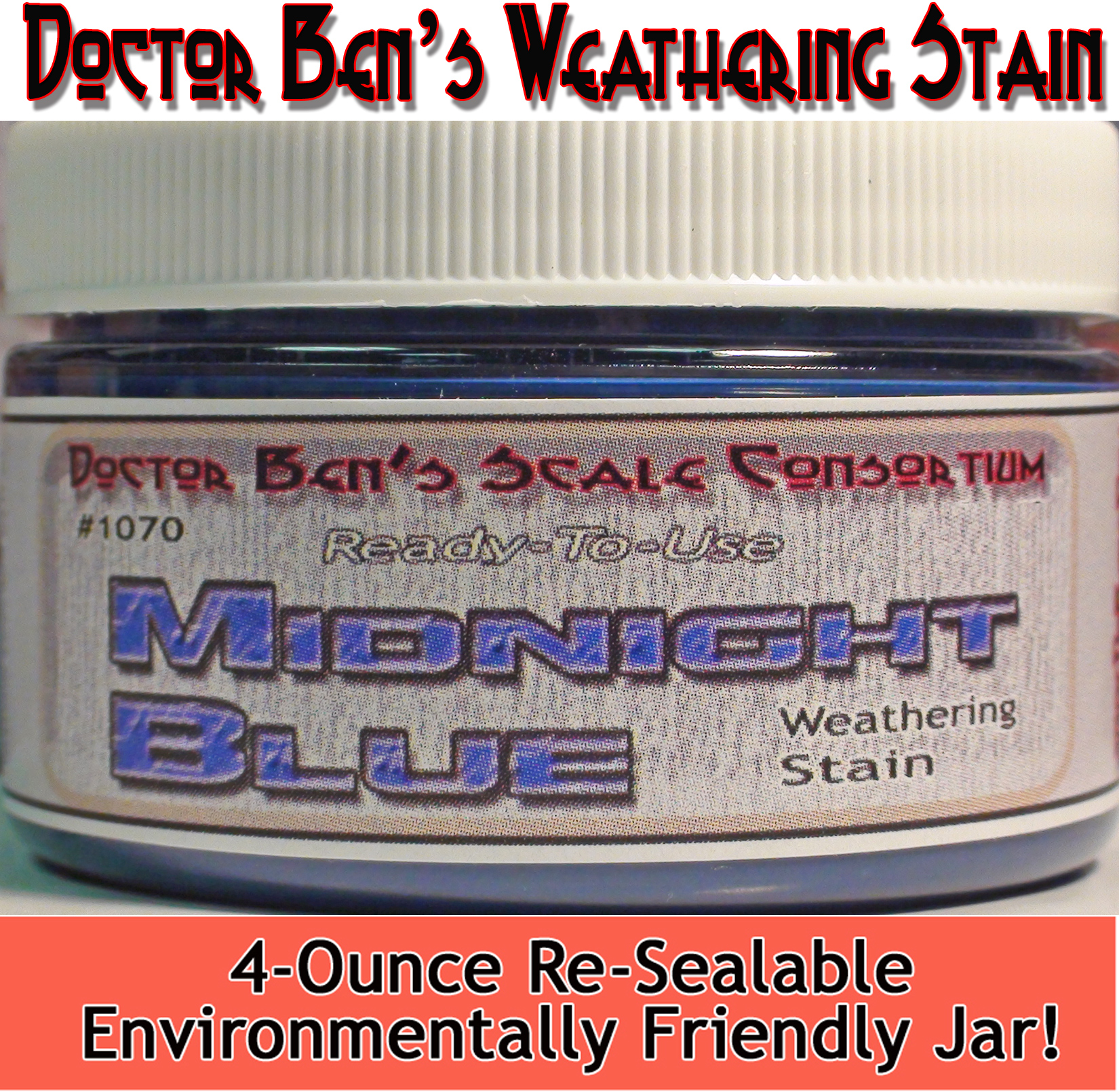 Midnight Blue Weathering Stain-4oz Doctor Ben's Scale Consortium