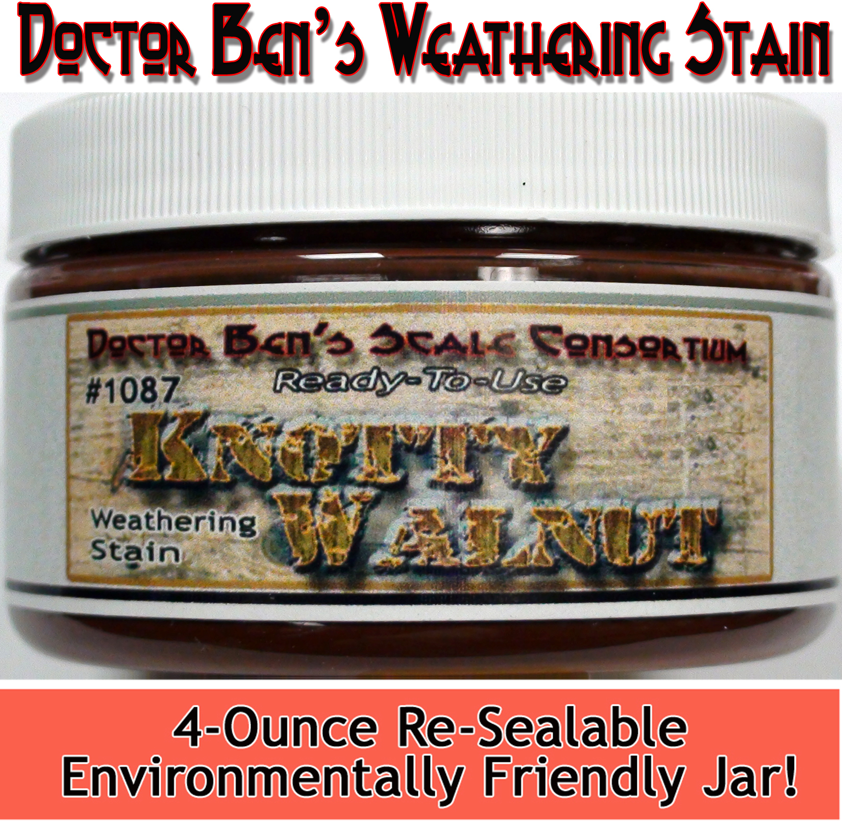 Knotty Walnut Weathering Stain-4oz Doctor Ben's Scale Consortium