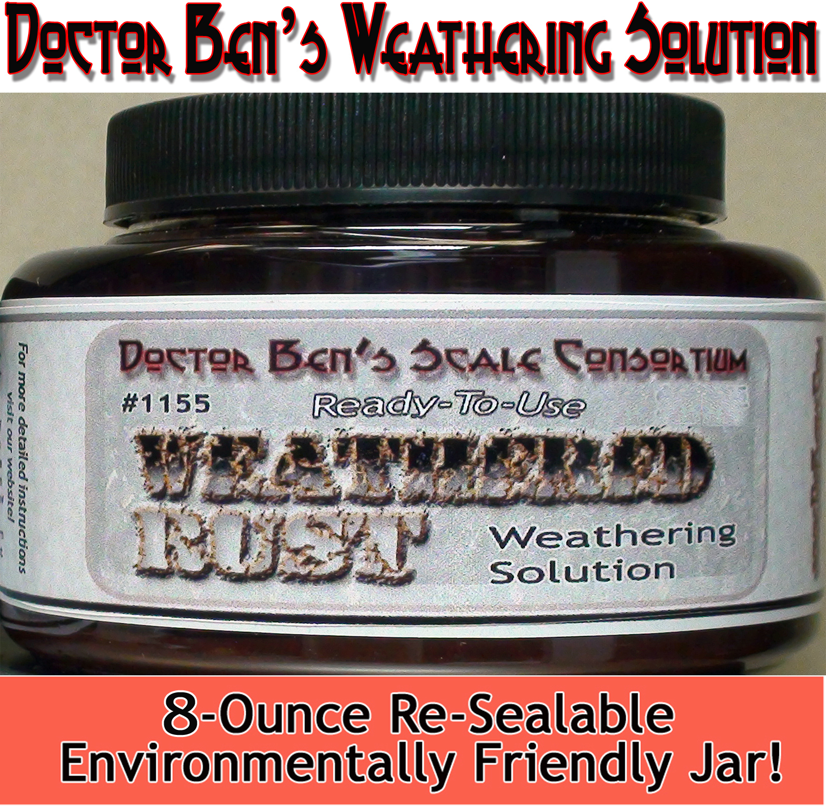 Weathered Rust Weathering Solution 8oz-Doctor Ben's Scale Consortium