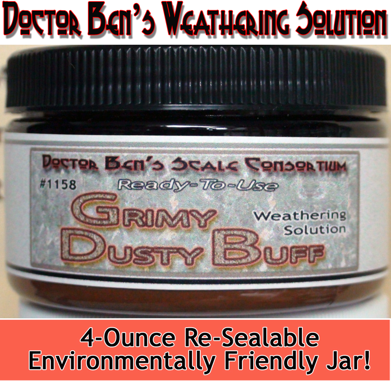 Grimy Dusty Buff Weathering Solution 4oz-Doctor Ben's Scale Consortium
