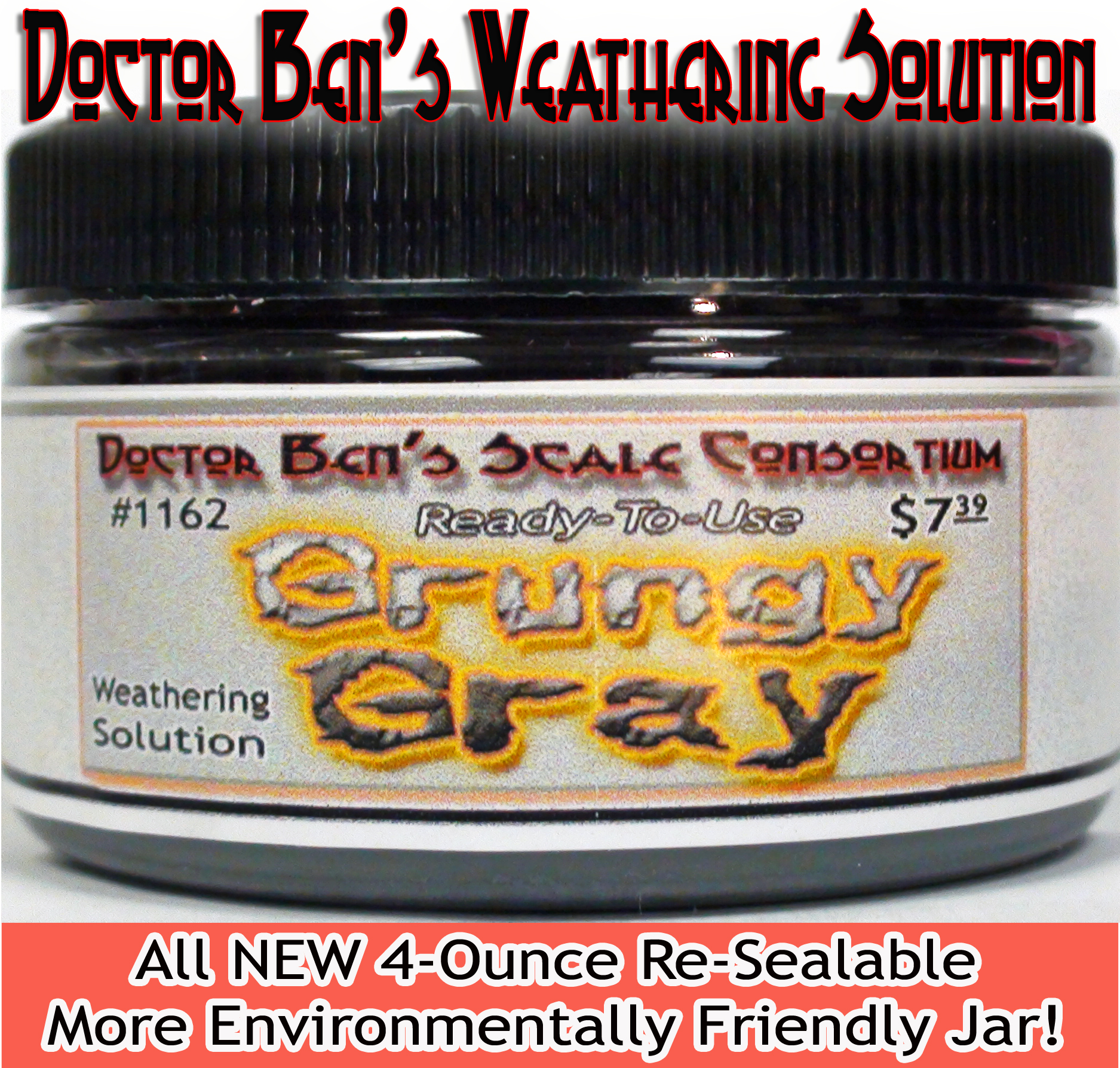 Grungy Gray Weathering Solution 4oz Doctor Ben's Scale Consortium