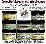 8-Jar Weathering Solution Set #2 w/How-To Booklet #1-Doctor Ben's Scale Consortium