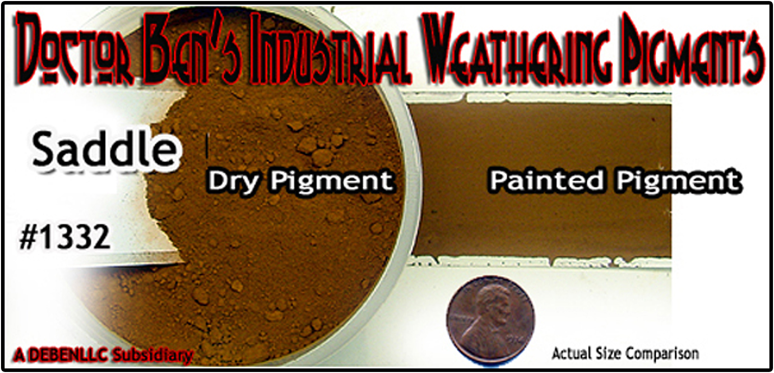 Saddle Weathering Pigment-2oz Doctor Ben's Scale Consortium