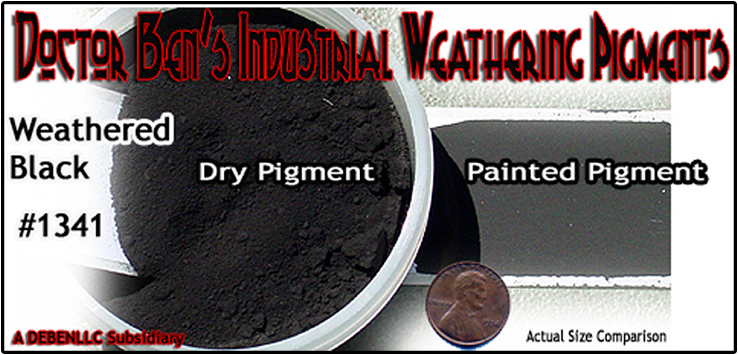 Weathered Black Weathering Pigment-2oz Doctor Ben's Scale Consortium