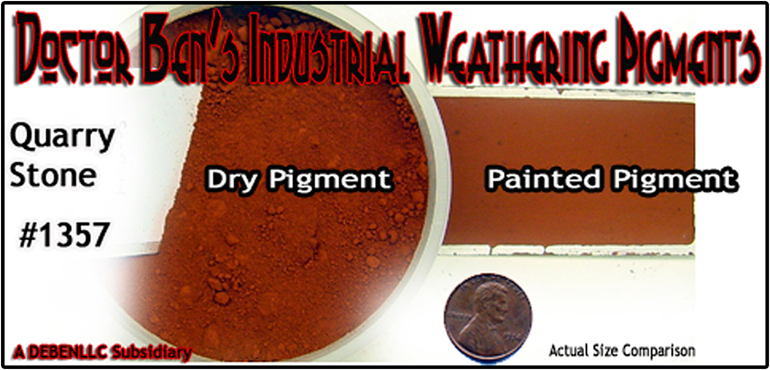 Quarry Stone Weathering Pigment-2oz Doctor Ben's Scale Consortium