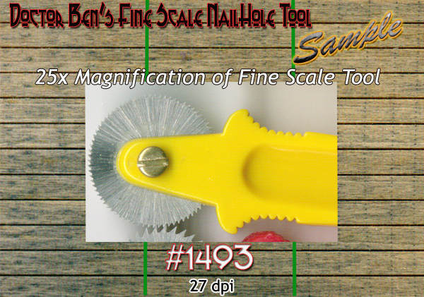 Fine Scale Nail Hole Tool  Doctor Ben's Scale Consortium for 1:64/Sn3/Sn2/Sn42