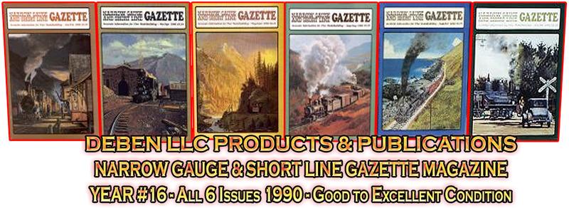 2000-2013 Narrow Gauge & Short Line Gazette Magazine Sets
