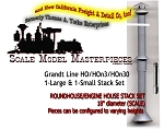 Engine House Stack Set Kit-(1eaSM/LG) Grand Line  HOn3/HOn30