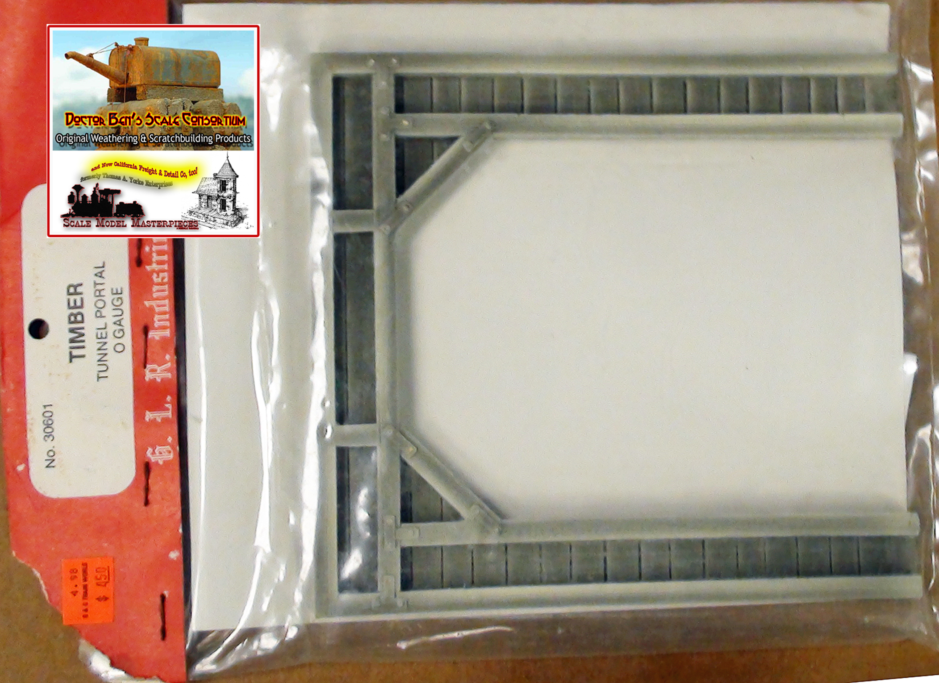 GLR Industries/Model Dynamics Tunnel Portals, Retaining Walls. Abutment Sets NOS O/1:48