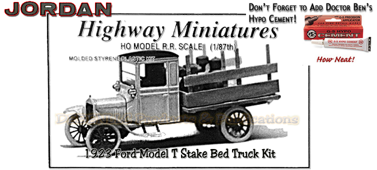 Jordan Highway Miniatures 1923 Ford Model-T Stake Bed Truck Kit NOS HO/1:87