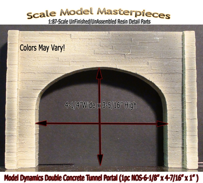 DOUBLE CONCRETE TUNNEL PORTAL (1pc-NOS)  Model Dynamics/CHOOCH/AIM fsm HO/1;87