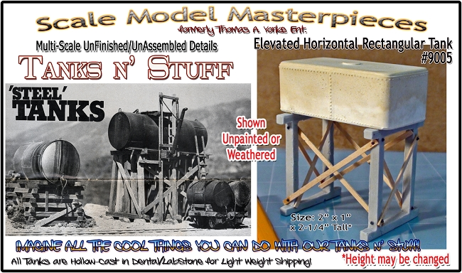 Elevated Horizontal Rectangular Tank  (1kit) Scale Model Masterpieces/Yorke Multi Scale
