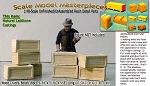 Wood Crates/Boxes-Long/Sm (8pcs) Scale Model Masterpieces O/On3/On30/1;48