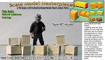 Wood Crates/Boxes-Small (8pcs) Scale Model Masterpieces O/On3/On30/1;48