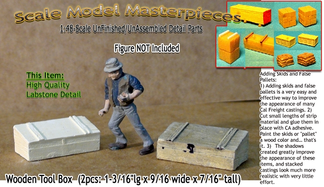 Wooden Tool Box  (2pc-1-3/16