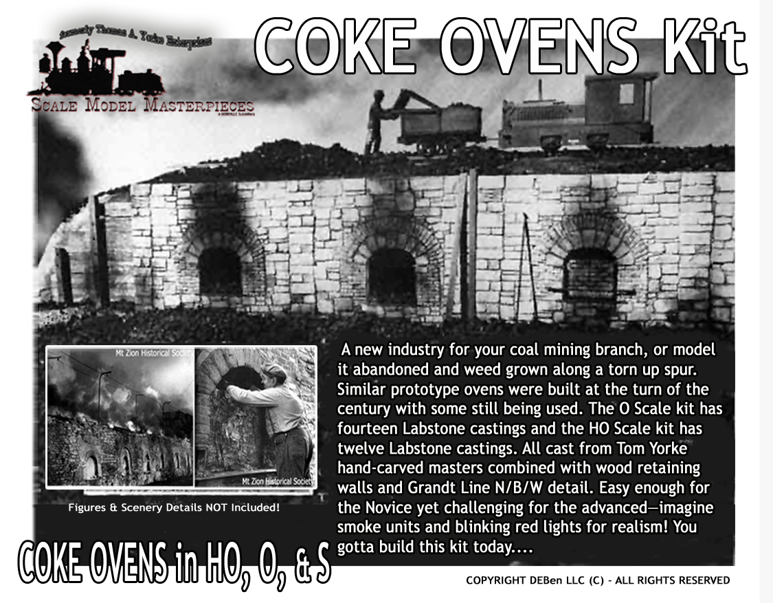 Coke Ovens Kit 1:48 Scale Model Masterpieces / Thomas A Yorke Ent. O/On2/On30/1:48